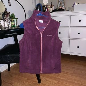 Purple Fleece Columbia Vest